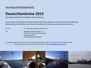 Deutschlandreise 2015 - Flyer
