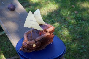 Danke an Anke mit Familie für den tollen Kuchen zum Krantermin.